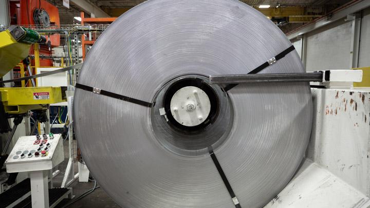 SSAB 고장력강으로 제작된 코일