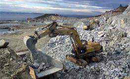 Aplicação do Duroxite em pedreira