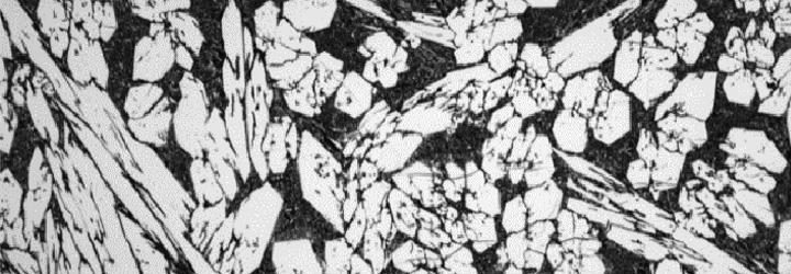 A microscopic photo of chromium carbides for CCO plates