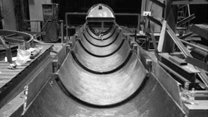 Cement chutes in Duroxite®