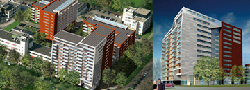 Self-cleaning facades for housing projects with GreenCoat steel