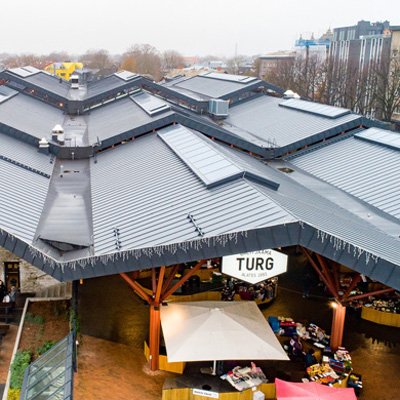 Baltic Market Station roof