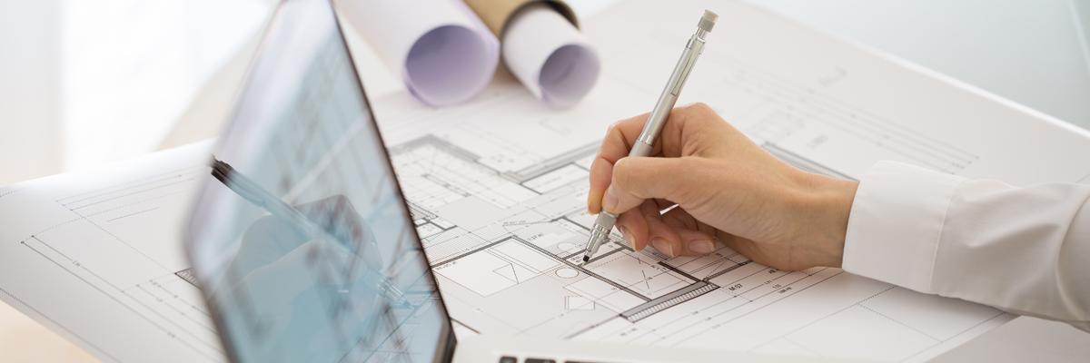 Piirustukset, arkkitehti