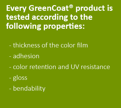 Essais GreenCoat en extérieur
