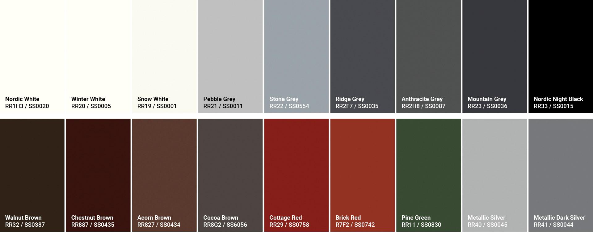 GreenCoat RWS Pro Farben