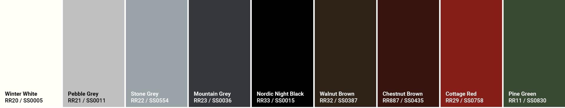 GreenCoat RWS Pural colors