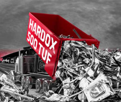 Hardox 500 Tuf für Recyclingbehälter
