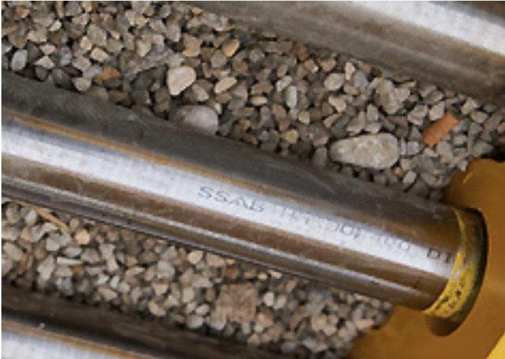 Alla Hardox® rundstänger är märkta med texten SSAB Hardox®.