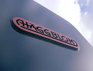 SSAB acél Haggblom logó