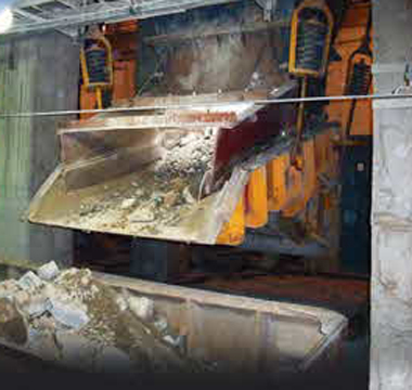 Hardox in hopper liner plate at Asian copper mine