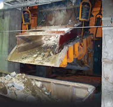 Hardox in hopper liner plate at Asian copper mine
