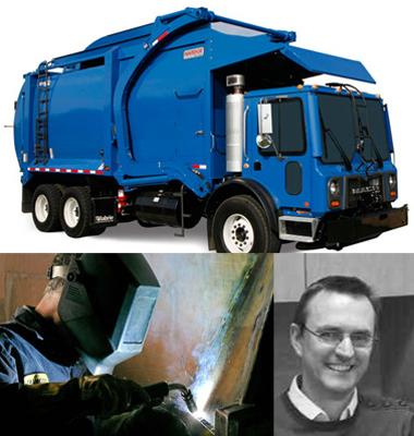 Hardox ve vozidle pro sběr odpadu