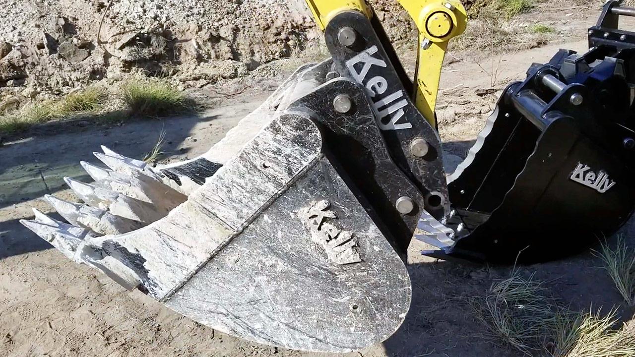 caçamba de escavação