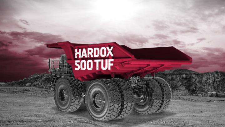 Mining tray made of Hardox® 500 Tuf, ready for tough applications