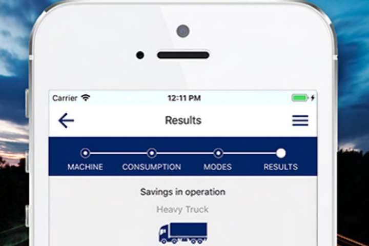 The SSAB Eco Upgraded mobile app, which calculates savings when upgrading to a higher grade of Hardox® wear steel