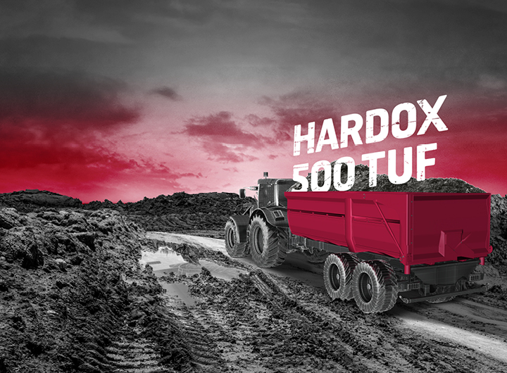 Acier anti-abrasion Hardox 500 Tuf