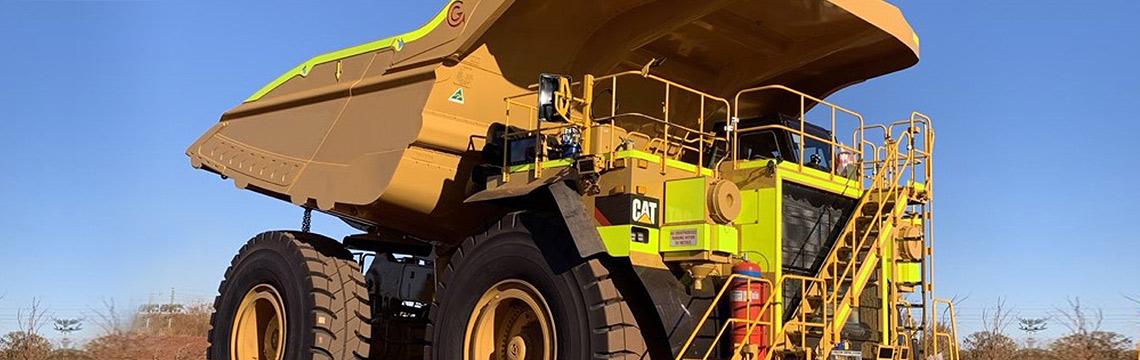 Mining truck body