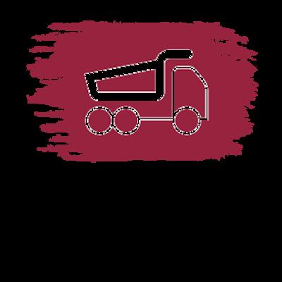billenő felépítményes teherautó ikon