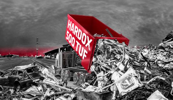 kippiperävaunu ja kierrätysterästä
