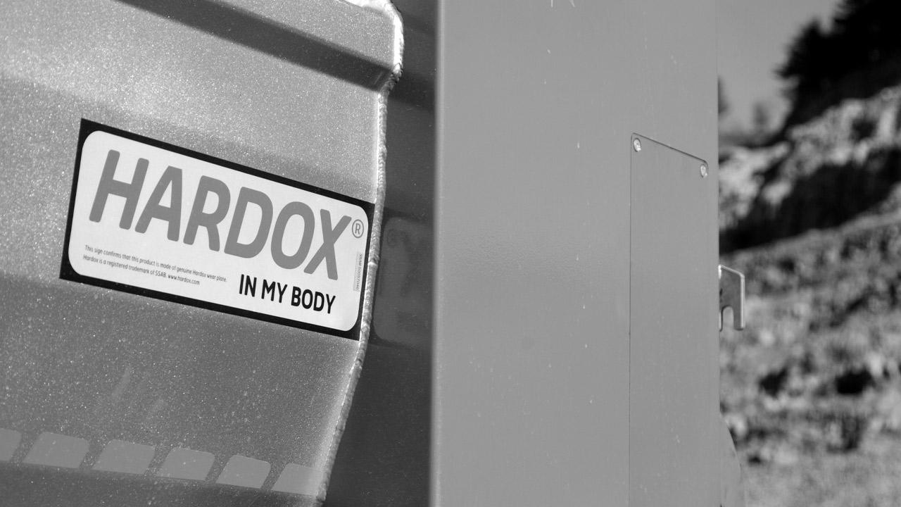 Verify the Hardox® In My Body sign