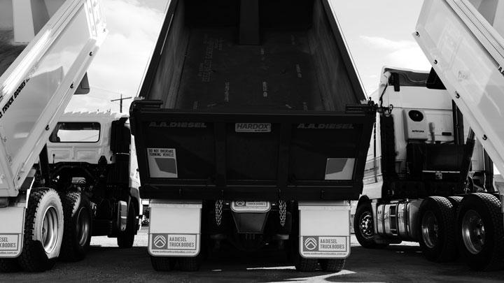 Hardox® In My Body-tippflak från AA Diesel Truck Bodies