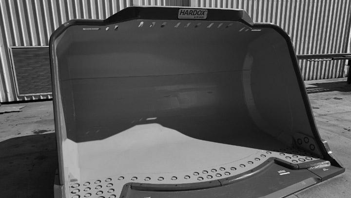 Hardox® In My Body-skopa från Goldmont Engineering