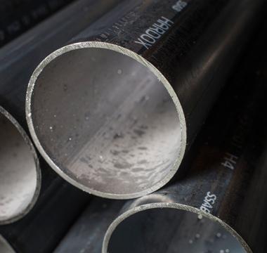 A Hardox®-branded steel pipe