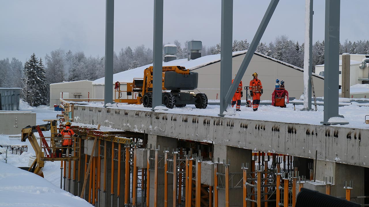 STH Steel for the steel frame of Snellman's new warehouse