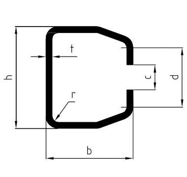 Rotaia del trasportatore formata a freddo SSAB