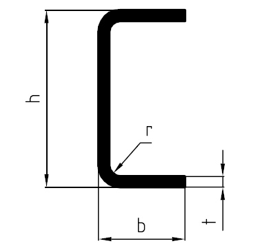Kaltumgeformter U-Profilstahl