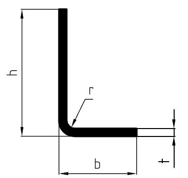 Perfil de ángulos desiguales conformado en frío