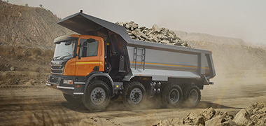 Tipper designed by SSAB in use