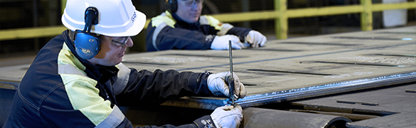 Lamiera da treno in acciaio prefabbricato SSAB engineer