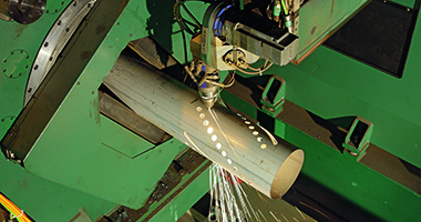 Obróbka stali - cięcie laserowe rur