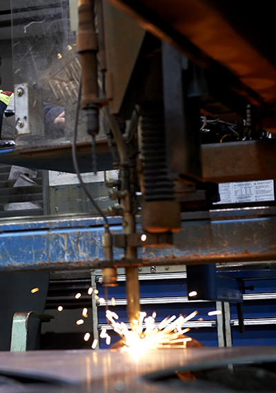 SSAB Processing services Flame cutting