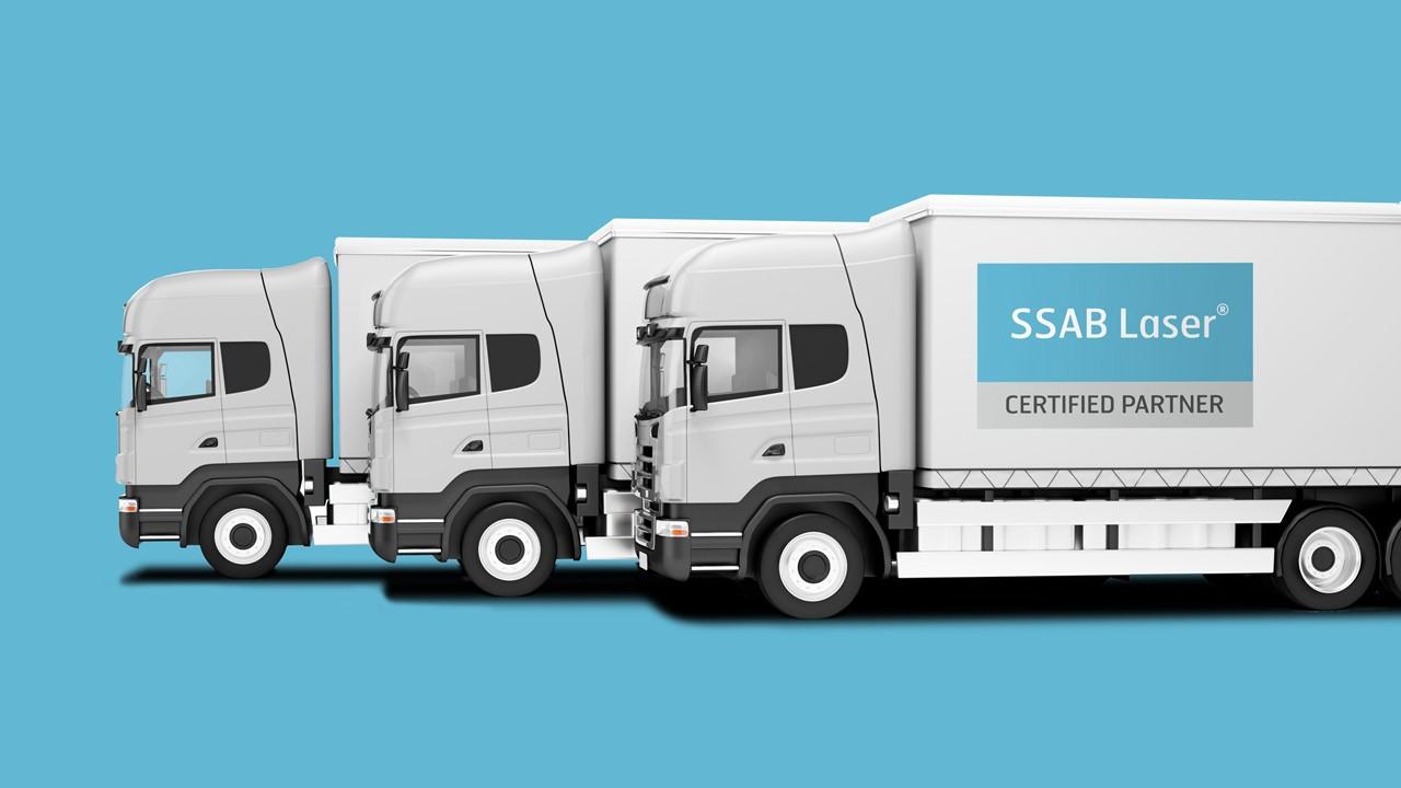 SSAB Laser teherautó