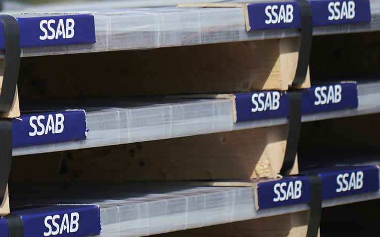 SSAB Multisteel en almacén