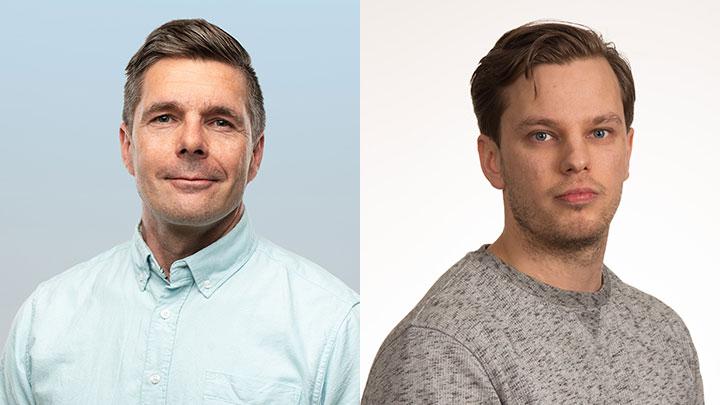Sami Niemelä, business area director w WSP Finland oraz Sami Torvi, inżynier projektu w Normek.