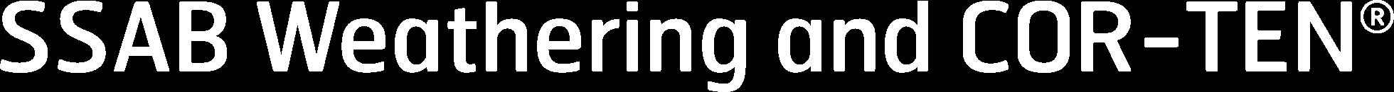 SSAB Weathering logo white