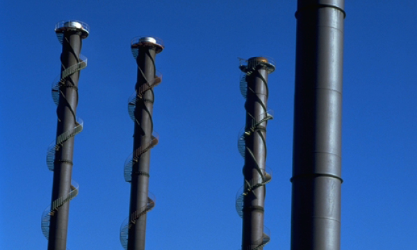 Weathering steels in sulfur rich