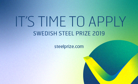 Swedish steel prize apply 2019