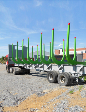 Nopan Metalli steel frames for timber wagons made from Strenx steel