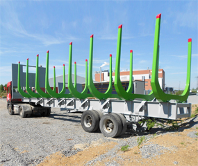 Lightweight, high-strength timber haulage solutions for rail transport