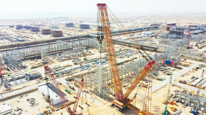 Tela-alustainen nosturi, XCMG:n 4 000 tonnin malli