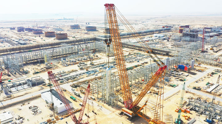 Grúa sobre orugas, el modelo de 4000 toneladas de XCMG