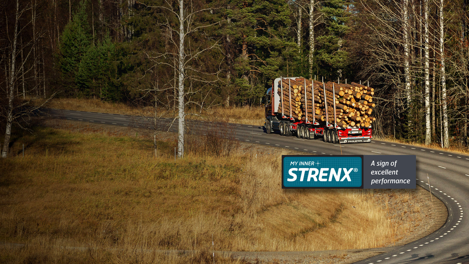 My Inner Strenx® timber trailer on the road