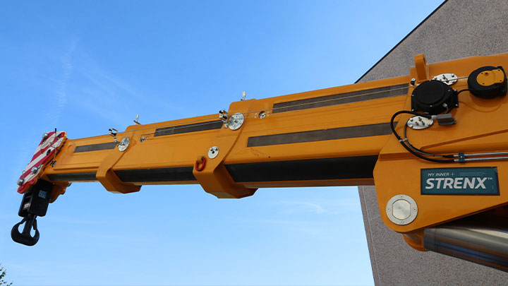 Higher load with My Inner Strenx® crane boom