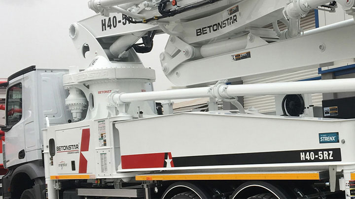 Driving performance with My Inner Strenx® concrete pump by Betonstar
