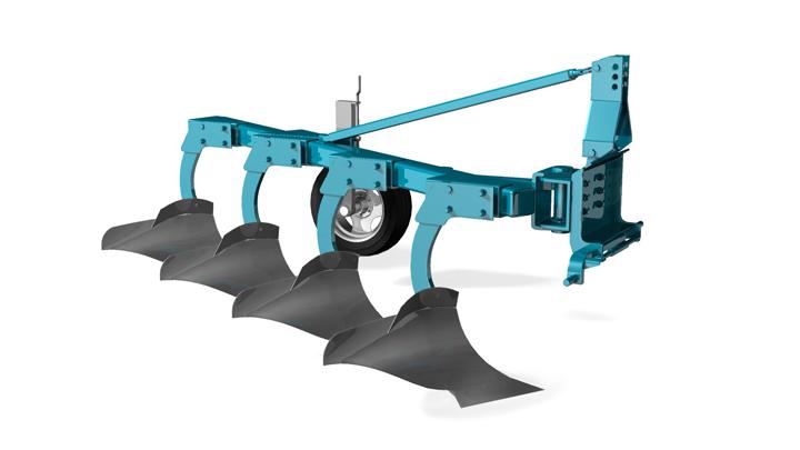 Arado fabricado con acero de altas prestaciones Strenx®