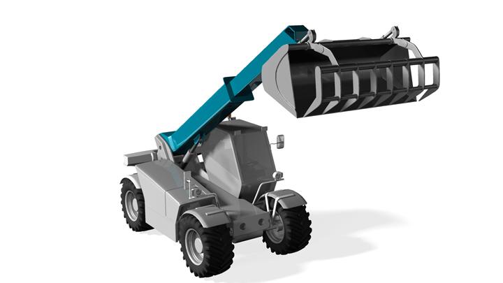 Telehandler with Strenx® Performance steel